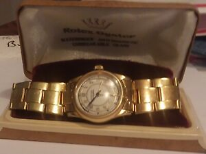 Genuine Rolex Unisex Oyster Centregraph, Gold-Filled Case, GP Rolex Band 1940s