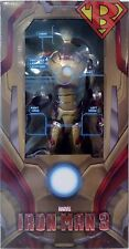 "IRON MAN 3 MARK 42 ARMOR 1/4 Scale 18"" inch Action Figure with LED's Neca 2017"