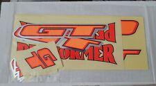 RARE NOS NWT OG 1995 GT PERFORMER BMX BIKE SEALED COMPLETE DECAL KIT MIDSCHOOL