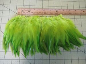 """BLOCK BROOK 6"""" Piece SADDLE HACKLE 5-7"""" FEATHERS FLY TYING MATERIAL Lime Green"""