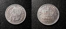 Napoléon III - 20 centimes tête laurée 1867 A, Paris