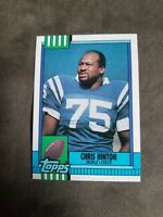 1990 Topps Football Card #304 Chris Hinton - Indianapolis Colts