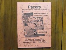 JERRY REESE/DON McLEARY/TODD BERRY Signed 1988 Tennessee-Martin Football Program