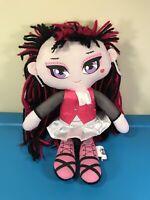 "Monster High 17"" Draculaura Black Red Pink Plush Doll 2013 by Mattel"