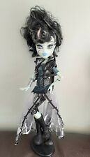 Monster High Doll. Frankie Stein Ghouls Rule in Original Clothes And Stand.