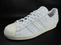 Adidas Superstar 80s Mens Shoes White B37995 Sneakers Leather Classic Dead Stock