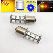 2 x 18-SMD 5050 18 LED Yellow Tail Turn Signal Lights Bulb 1156 BA15S T20 DC 12V