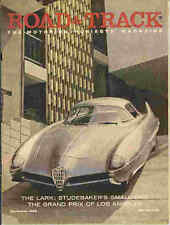 Road & Track 1958 Dec datsun porsche invicta alfa romeo