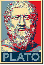 PLATO ART PHOTO PRINT POSTER GIFT (BARACK OBAMA HOPE PARODY) PHILOSOPHY