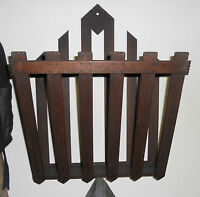 ANTIQUE WOOD HANGING RACK 1920S? POSSIBLY ARTS AND CRAFTS/MISSION/VICTORIAN