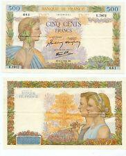 Gertbrolen 500 FRANCS ( La paix ) du 6-4-1944   V.7972 Quasiment Superbe Rare