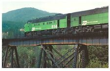 POSTCARD US TRAIN - REAR-END HELP - F9 814, NEAR HUNGRY HORSE