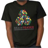 Brain Teaser Official Rubiks Cube Puzzle Gift Adult Short Sleeve Crewneck Tee