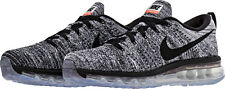 NEW  Nike Flyknit Max Running Shoes 620469-105 White/Black Mens 7 Womens 8.5