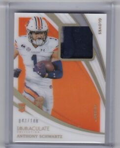 ANTHONY SCHWARTZ 2021 PANINI IMMACULATE COLLECTION COLLEGIATE GLOVES 43/100
