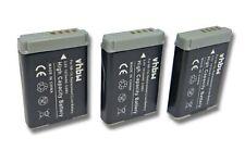 3x Akku für Canon Powershot G9X Mark II, SX620 HS 1010mAh 3.7V Li-Ion