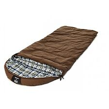 "GRIZZLY 90"" x 40"" 1-Person +25 Degree BROWN CANVAS Sleeping Bag by BLACK PINE"