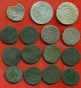 Lot of 15 Poland Lithuania Hungary Riga Livonia 1622-1665s 1443