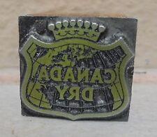 Vintage Letterpress Printing Block Man Canada Dry Soda Pop