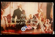 UNITED STATES 2007 PRESIDENTIAL $1 DOLLAR PROOF SET 4 COINS SEALED, COA & BOX