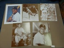 MLB BASEBALL PLAYS PHOTOGRAPH LOT TED WILLIAMS WILLIE MAYS BOSTON RED SOX