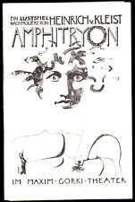 Theaterprogramm, Maxim Gorki Theater, Heinrich v. Kleist, Amphitryon, 1982