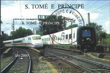 Sao Tome e Principe block354 (complete.issue.) fine used / cancelled 1996 Railwa