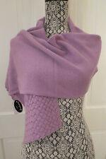 Portolano Women's Lilac Cashmere Basket-Weave Scarf – NWT - $286