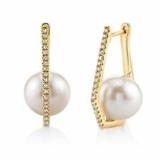 Fashions Pearls Jewelry Polygon With Inside Fresh Sea Beads Gold Silver Earrings