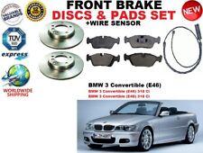 PER BMW 3 E46 decappottabile 01-07 ANTERIORE DISCHI FRENO Set + KIT PASTIGLIE+