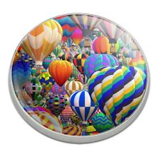 Hot Air Balloon Sky Traffic Jam Golfing Premium Metal Golf Ball Marker