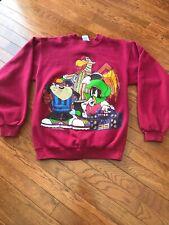 Vintage Retro 90's Warner Bros. Looney Tunes Sweatshirt Taz Marvin Martian F.L.