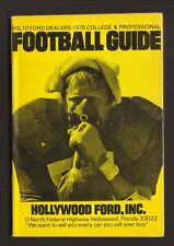 Hollywood Ford--1975 Pro & College Football Guide/Schedule Booklet