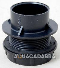 "1.5"" THREADED SOLVENT WELD POND TANK CONNECTOR END CAP WITH RUBBER WASHER SEAL"