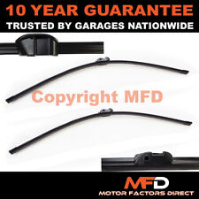 """DIRECT FIT FRONT AERO WIPER BLADES PAIR 26"""" + 18"""" FOR BMW 5 SERIES F10 2010 ON"""