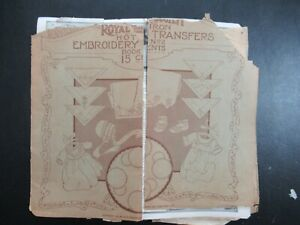Vintage 1920s Royal Society Hot Iron Embroidery Transfers Book H Verran