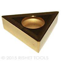 RISHET TOOLS TCMT 32.51 C2 Multi Layer TiN Coated Carbide Inserts (10 PCS)