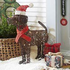 "ON SALE 28"" LED Woven Christmas Santa Dog Yard Decor (New in Box)"