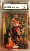 Lebron James ROOKIE 2003-04 Freshman Season #42 UD Collectibles Gem mint 10