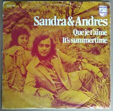 "Sandra & Andres Qui je t'aime It's Summertime 7"" single Philips 6012141"