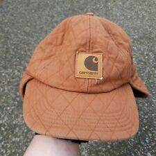 Carhartt Work Flex Ear Flap Cap A160 Size M/L Insulated Brown Quilted