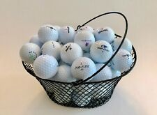 GOLF BALL BASKET...Heavy-Duty Wire Mesh...GREAT FOR PRACTICE...Black..Oval