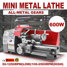 Precision Mini Metal Lathe Metalworking Processing Variable Speed 600W  NEWEST