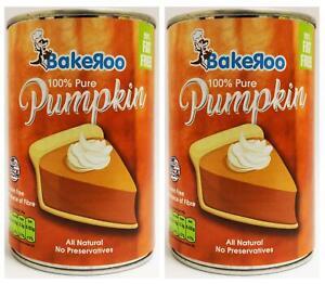 Bakeroo 100% Pure Pumpkin (15 oz) 425g - Pack of 2