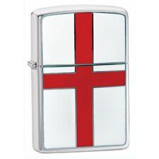 More details for personalised england flag emblem chrome zippo cigarette lighter engraved gift