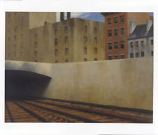 Edward Hopper 1946 APPROACHING A CITY Stadt Washington Häuser Gleise Mauer 7