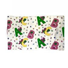 """Barney & Friends Toddler Kids Size Flat Sheet 1993 Pillow Case 87"""" x 67"""""""