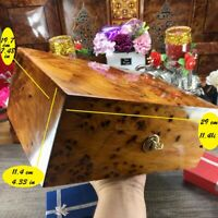 Trinket decorative handmade large box, Thuya cedar wooden birthday gift box