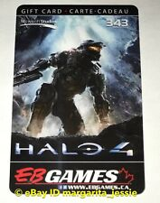 "EB GAMES/GAME STOP GIFT CARD HALO 4 ""MASTER CHIEF"" COLLECTIBLE NO VALUE NEW"