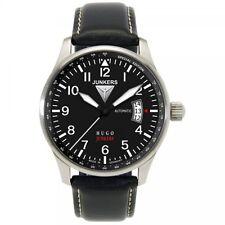 Junkers Herrenuhr Uhr Hugo Junkers Automatik Datum Leder Schwarz 6664-2